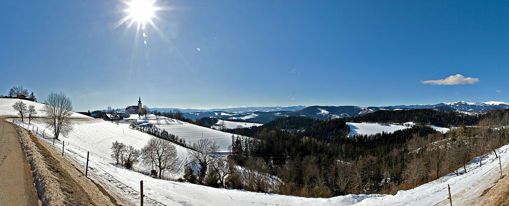 Landschaft St Pankrazen Weststeiermark
